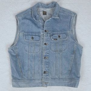 Vintage 1994 LEE Denim Trucker Jean Vest Size L